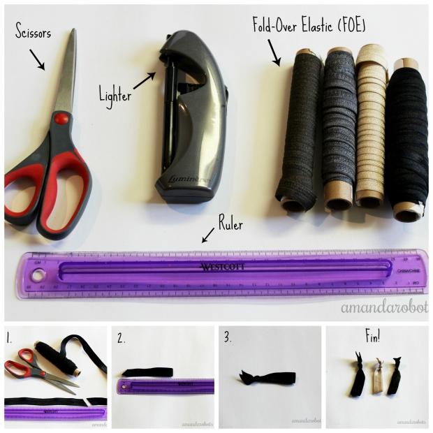 DIY Ribbon Hair Ties