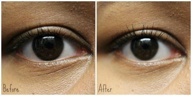 CoverGirl Clump Crusher Extensions on eye swatch