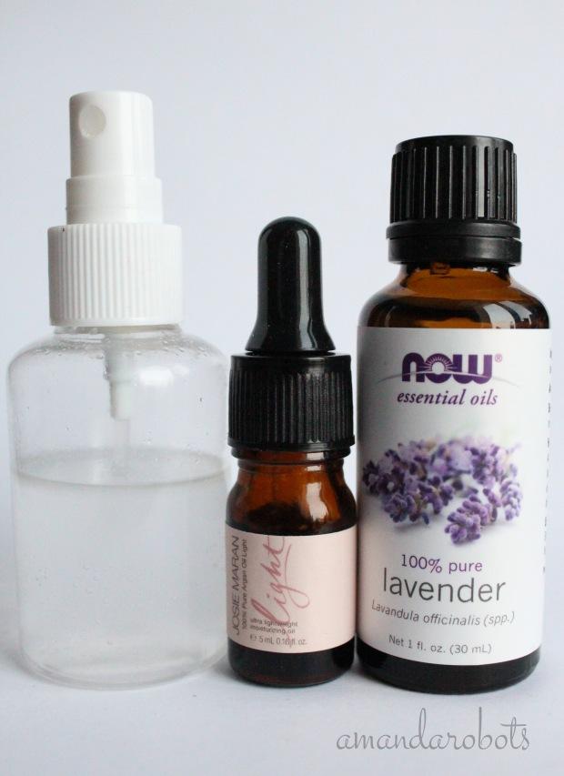 DIY Lavender Curl Refreshing Spray