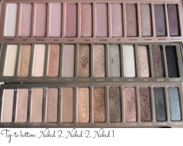 Naked 1, 2, 3 Shadow Closeup Comparaison