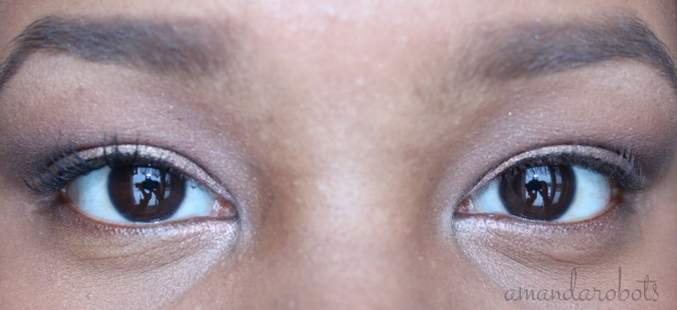 Left: With Too Faced Better Than Sex Mascara. Right: Without.
