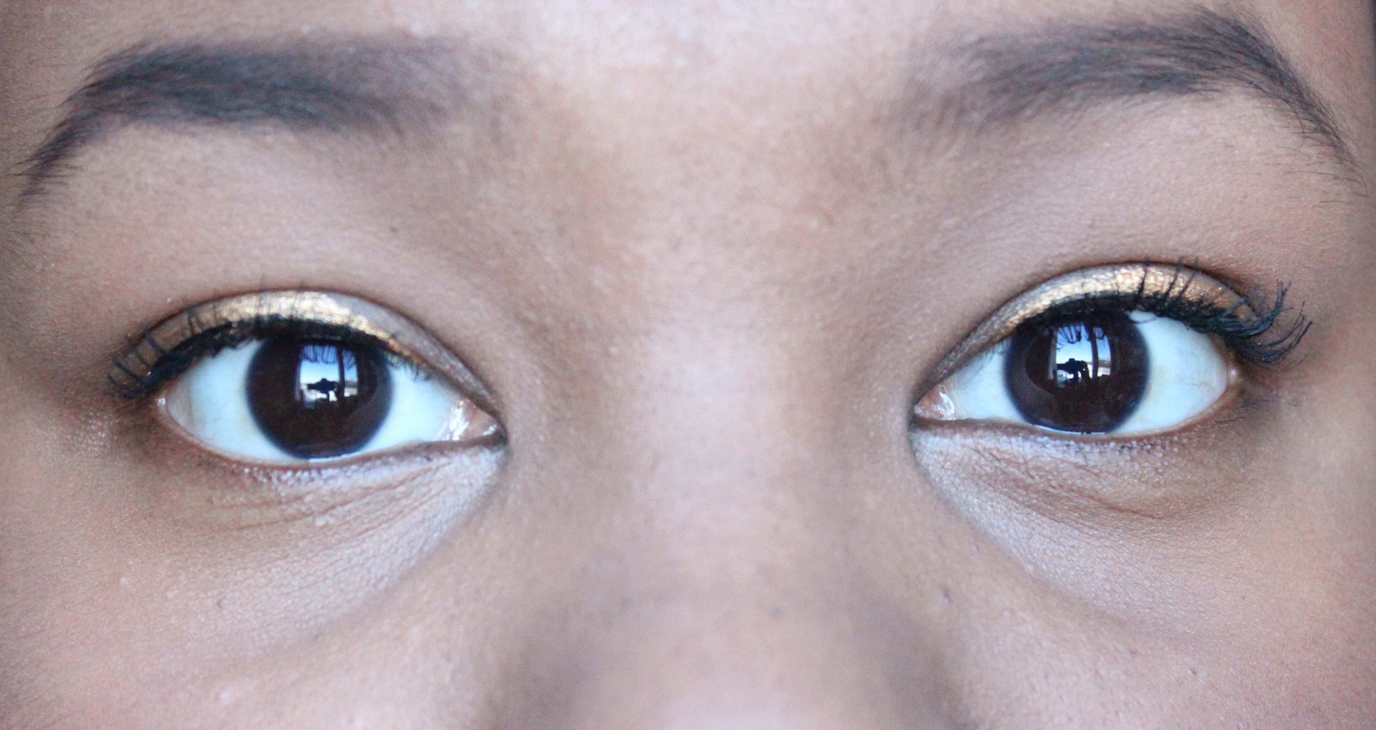 Hunger Games Cinna Gold Eyeliner Cinna look closeup