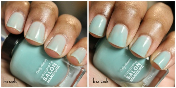 Sally Hansen CSM Jaded swatch comparison