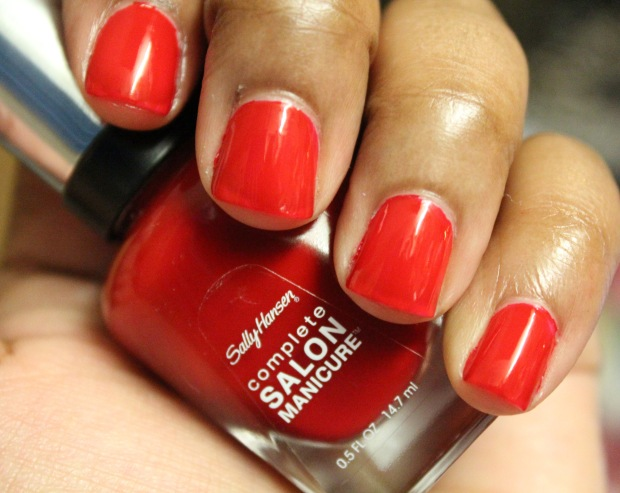 Sally Hansen CSM Red My Lips Swatch