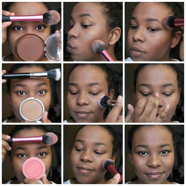 Contour Highlight Blush Collage