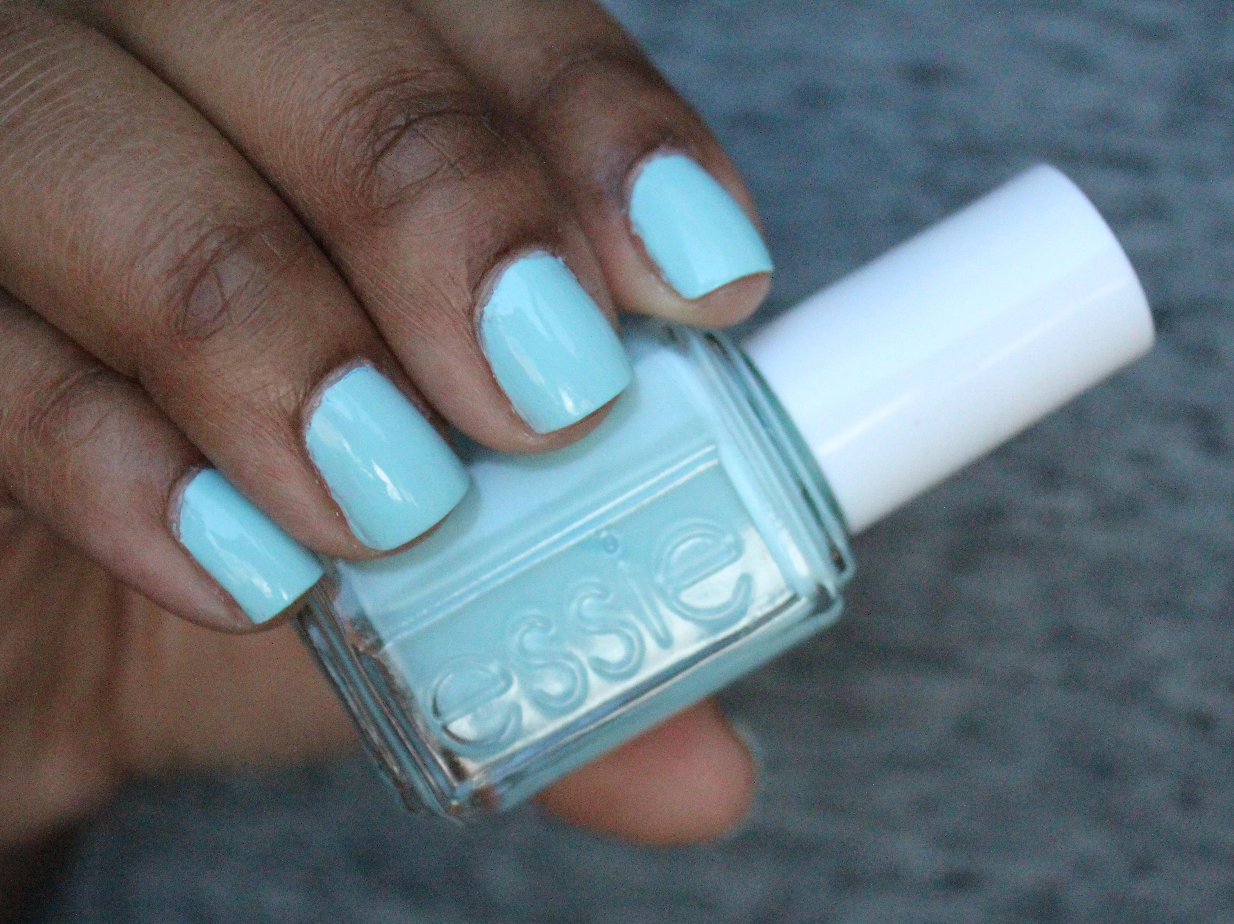 Blue Nail Polish On Black Skin - To Bend Light