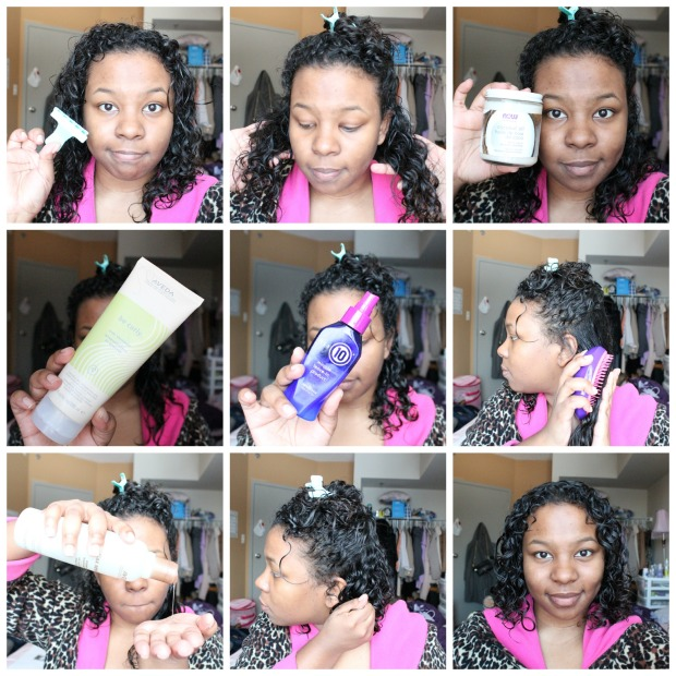 Hair Styling Collage