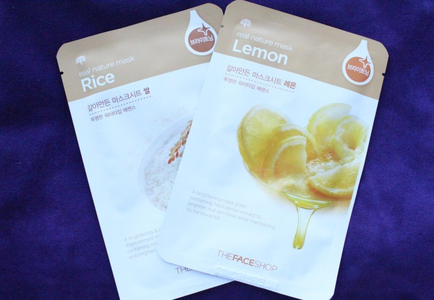 TheFaceShop Sheet masks