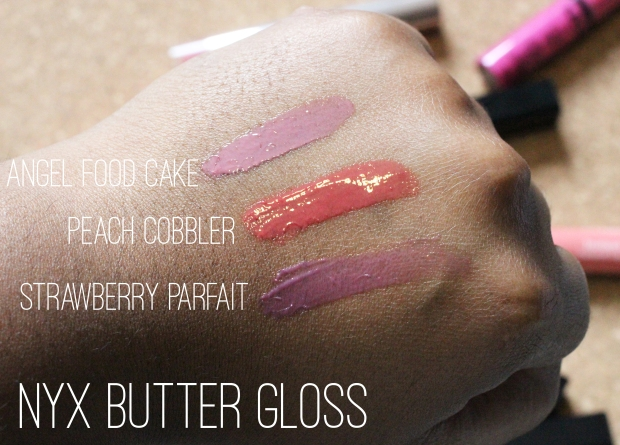 NYX Butter Swatches