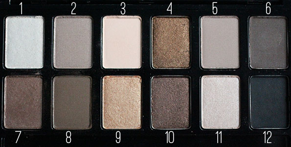 closeup maybelline nudes palette
