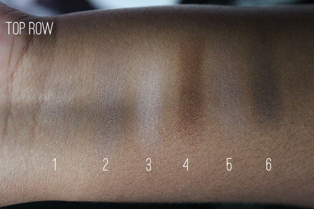 Maybelline Nudes top row swatches